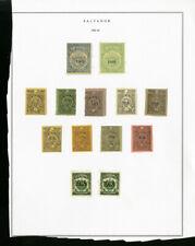 El Salvador Lot of 13 Early Stamps