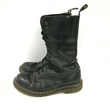 DR MARTENS Black Casual Lace Up Flat Leather Calf Length Boots Women UK 5 172471