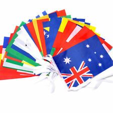 Premium Quality Huge 33ft Long National Flags of The World Fabric Bunting