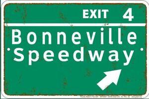 cooles US Schild  - Bonneville Speedway EXIT 20 x 30  cm