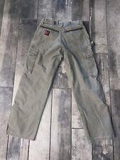 Riggs Workwear Men's Sz 32X30 Ripstop Fabric Carpenter Pants Wrangler Green