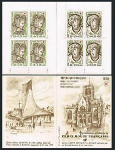 France B521a booklet,MNH.Michel 2183-2184 MH. Red Cross-1979.Simon the Magician.