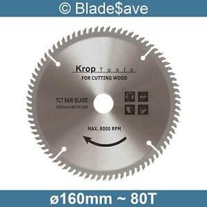 Erbauer Circular Saw Blade Fine Cut TCT 160mm x 16/20mm x 80T by KROP