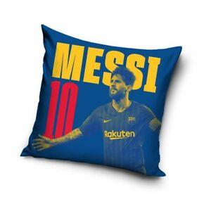 Lionel Messi Filled Square Cushion Football FC Barcelona Fans - 40cm x 40cm