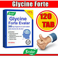 Evalar Glycin Glicin Forte 120 Tab 300 MG Reduzierend Nervös Stress Ablaufdatum