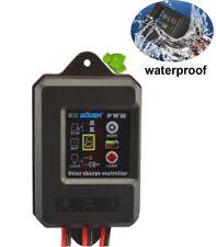 10A Waterproof Solar Charge Controller PWM Solar Panel Regulator for 12V/24V