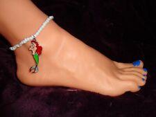 bracelet beads anklet stretchy handmade Little Mermaid enamel charm ankle