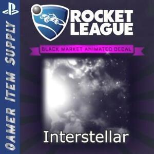 [PS4] Interstellar - Black Market Decal! [Rocket League] - FAST DELIVERY