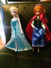 Disney Store Frozen princess  doll Elsa And Anna Dolls