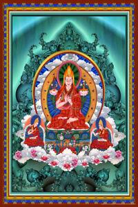 Buddha Religious Trinity Fractal Art Print Poster 12x18 inch