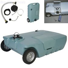 Portable Waste Tank RV Trailer Camping Sewer Black Gray Water Tote 25 Gallon
