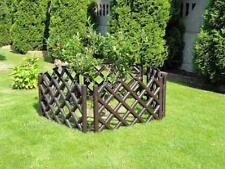 Garden Plastic Fence Lawn Palisade Boarder Patio Fence Edge Fencing BJPO Brown