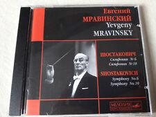 Mravinsky Shostakovich Symphonies/sinfonie 6 & 10 Melodiya near mint, quasi come nuovo