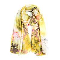 Women Fashion Large Silk Yellow Scarf Lady Summer Beach Soft Shawl Stole Scarves