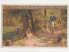 Paul Hey Ich ging Im Walde So Fuer Mich Bin Vintage Art Postcard 739a