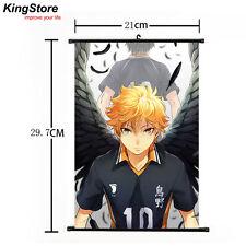 Japan Anime Haikyuu Shoyo Hinata Shonen Home Decor Poster Wall Scroll 21*30cm 02