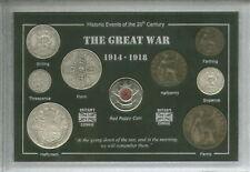 WWI WWI LA GRANDE GUERRA 1914-18 veterano REMEMBRANCE Poppy Coin Set Regalo
