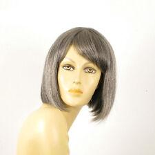 perruque femme 100% cheveux naturel grise ref CAMILLE 44