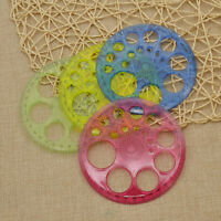 1 Pc 360 Degree Templates Quilt Patchwork Ruler Color Random DIY Craft Tools