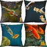 "18"" Goldfish Cotton linen pillow case sofa car waist cushion cover Home Decor"