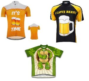Breathable Cycling Jersey Funny Cartoon Print , Quick-Dry  Ropa Ciclismo