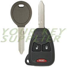 New Uncut Remote Head Key Fob Beeper + Extra Transponder Key for Chrysler Dodge
