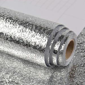 Kitchen Backsplash Wallpaper Peel and Stick Aluminum Foil Contact Paper