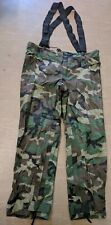 Orc Industries US Military Woodland Camo Improved Rainsuit Trousers Size Large
