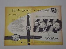advertising Pubblicità 1956 OROLOGI OMEGA COLLEZIONI DEL TESORO