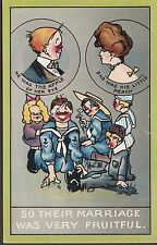 "Postcard - Military/Naval - Comic/cartoon Card, ""Fruitful"". Stamp/postmark 1910"