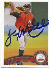 Chicago White Sox JARED MITCHELL Signed Topps Card