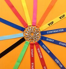 10 Security Lanyards Pass or Id Ticket Holder Key Strap Black vip Orange Red NEW