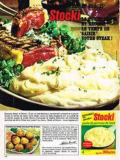 PUBLICITE ADVERTISING  1965   KNORR   Stocki  purée de pomme de terre