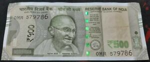 Rs 500 Note With Ending Number 786  from India