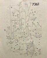 Tri-Chem 7361 Landscape Bare Trees Ready To Paint Liquid Embroidery 12 x 18