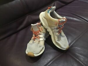 Adidas EQT Support Girls kids trainers sport shoes white/grey UK 4.5 CQ3042