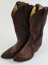TONY LAMA 6155 Mens Cowboy / Western Brown Leather Slip On Boots Size 8.5 D