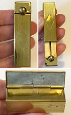 Vintage EDWARDS BAGS LTD Gold Tone Lipstick Compact Case with Mirror
