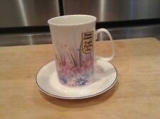 One Dunoon Eng Summer Haze Noelle Malkin Tea Coffee Cup & Saucer Fine Bone China
