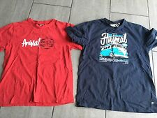 Animal Boys T-Shirts Navy & Red Size L. Good Condition.