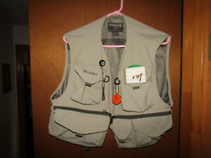 Men's Vintage SIMMS Fishing Bozeman, Montana FLY FISHING VEST sz Large