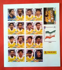 PANINI WC FRANCE 98  - Complete sheet IRAN team EXTRASTICKERS - copy
