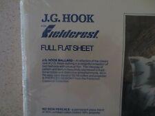VTG New FIELDCREST JG Hook Collection FULL FLAT SHEET MALLARD DUCK