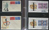 s606) Ersttagsbriefe Großbritannien 860 FDC meist echt gelaufen 1940 - 2007