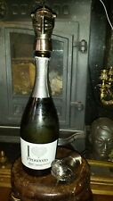 Vintage Steel Knights Head Helmet Wine  Bottle  Stopper Drinks Pourer (Pair)