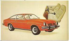 1974 Chevrolet Vega GT Hatchback Coupe Automobile Advertising Postcard