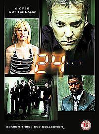 24: Season 3 DVD (2004) Kiefer Sutherland, Cassar cert 15 7 discs✉️FREE POST
