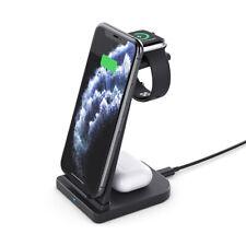 15 Вт 3in1 Qi беспроводное зарядное устройство док-станция для iWatch 6/SE/5/4/3/2/1 airpod iPhone 12 11