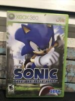 SONIC the Hedgehog Microsoft Xbox 360 AUTHENTIC ACTION GAME SHADOW SILVER CIB
