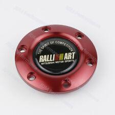 Ralliart Steering Wheel Horn Button Speaker Control Cover+Red Aluminum Edge